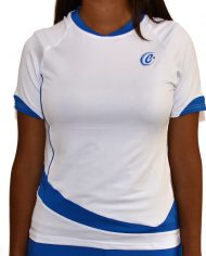 camista club mujer blanco front