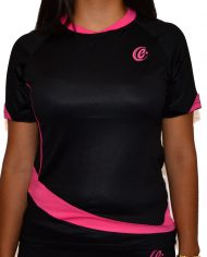 camista club mujer negro front